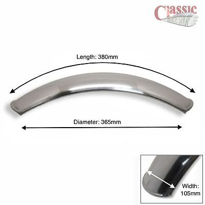 Universal Short Front Mudguard Alloy, Ideal for Scrambler / Cafe Racers