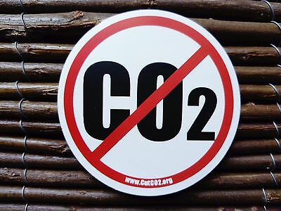Cut Co2 Carbon Dioxide Vinyl Sticker Decal Green Footprint Save The Planet
