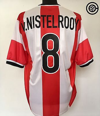 V. NISTELROOY #8 PSV Home Football Shirt Jersey 1998/99 (L) Holland