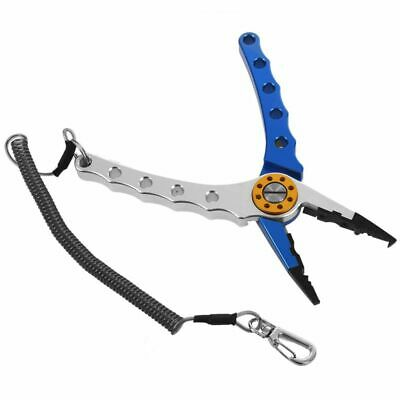 """7"""" Aluminum Bent Nose Stainless Steel Jaws Fishing Pliers Scissors Cutter PK"""