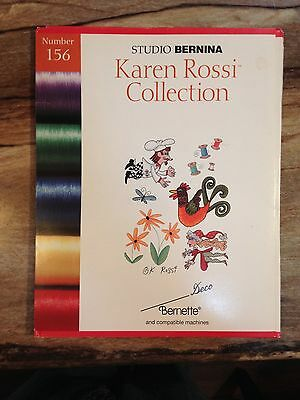 Studio Bernina KAREN ROSSI COLLECTION Embroidery Card Set Designs Software 156