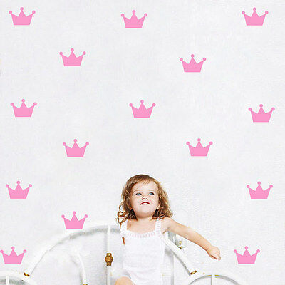 15pcs Mini Crown Removable Wall Sticker Art Vinyl Decal for Baby Room Nursery