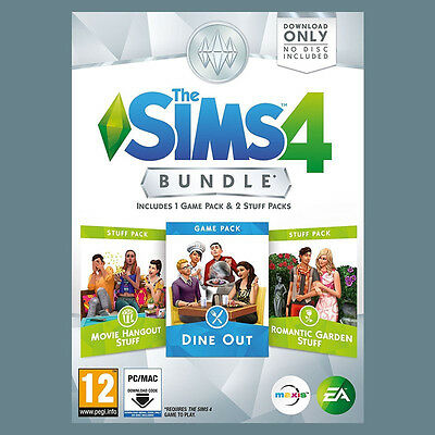 The Sims 4 Bundle Pack 3: Dine Out + Movie Hangout + Romantic EA Origin PC Code