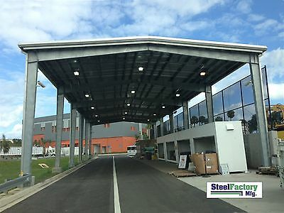 Steel Factory Mfg Prefab 40x75x16 Roof Only Metal Rigid i-Beam Frame Building