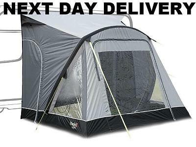 New 2017 Kampa Rapid 260 Air Blow Up Caravan Porch Awning With Rear Upright Pads
