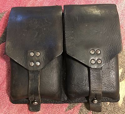 Magazine Pouch Dual MAG Leather Mil Spec Austrian STOLLA G3 FN FAL M16/M4 STG58