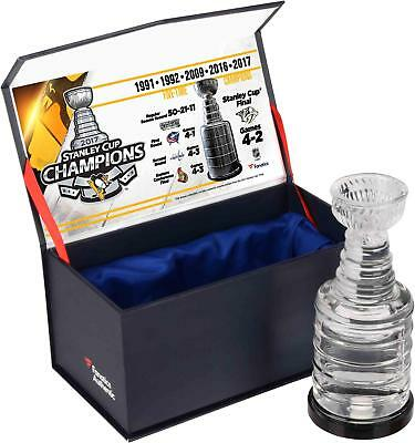 Pittsburgh Penguins '17 Stanley Cup Champ Crystal Trophy filled w Ice From Final