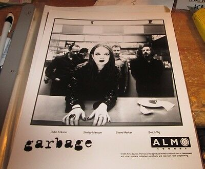 Garbage Promotion Photo Vintage  90's Promo Shot 8 X 10  Collectable Oop
