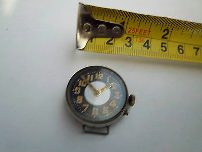 Antique Ww1 Officers Wrist Watch, Spares Or Repair Not Working