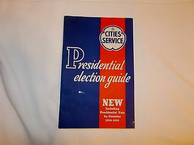 1936 Cities Service Gas Oil Co. Booklet Presidential Election Guide 1928-32