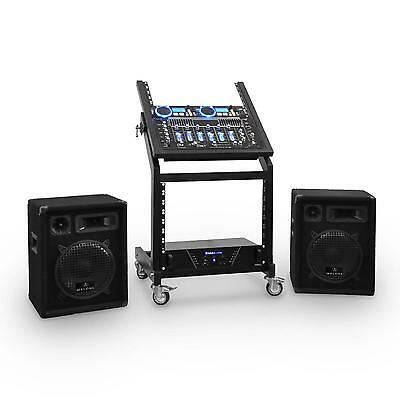 Dj Pa Set Verstärker 2 Boxen Mixer Cd Player Usb Sd Controller Bluetooth 1200W