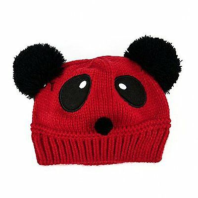 Cute Baby Girl Boy Winter Warm Knit Crochet Panda Hat FK