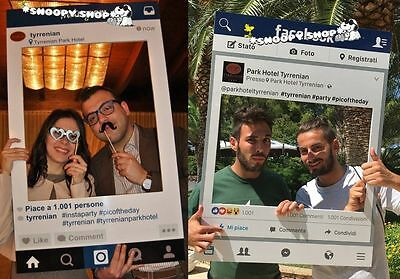 File Digitale Personalizzabile Cornice Instagram, Facebook, Polaroid Photo Booth