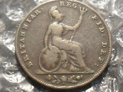 1844 Victoria farthing - scarce.