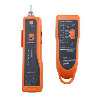 Brand New Cable Wire Phone Network Toner Tracer Tester Tracker Orange J9C4