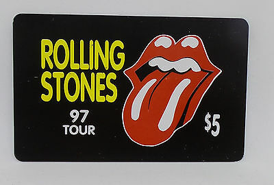 Rolling Stones 97 Tour $5 Prepaid Phone Card