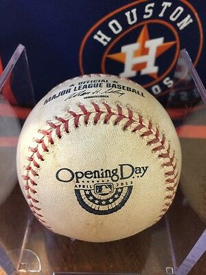 2013 Houston Astros Game Used Opening Day Baseball Signed Justin Maxwell