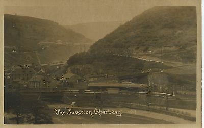 Real photo postcard of the Railway station/Junction Aberteeg Gwent Wales vgc