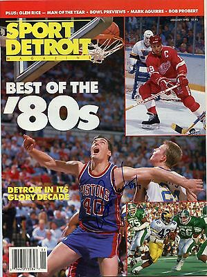 Bill Laimbeer Signed Sport Detroit Magazine January 1990 Autograph Bad Boys
