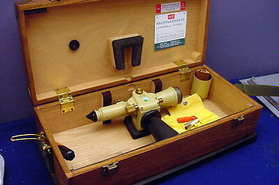 Old  K & E  Plane Table Alidade Surveyors' Instrument In It's Original Wood Case