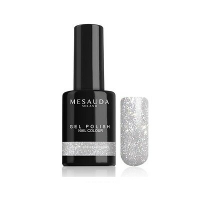 Smalto Semipermanente GEL POLISH NAIL COLOUR 047 GLITTER ARGENTO - 10 ml Mesauda