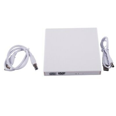 USB 2.0 External DVD Combo CD-RW Drive CD+/-RW DVD ROM for PC Laptop (White) PK