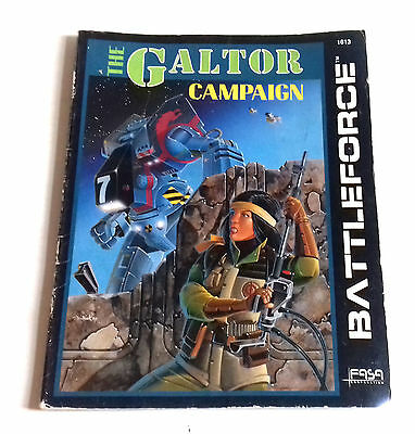 Vintage Roleplaying Battletech THE GALTOR CAMPAIGN book 1613 - FASA Corporation