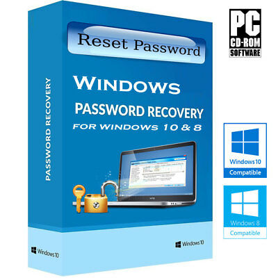 Password Recovery Reset Remove Forgot For Windows 10 and 8.1 Disc CD
