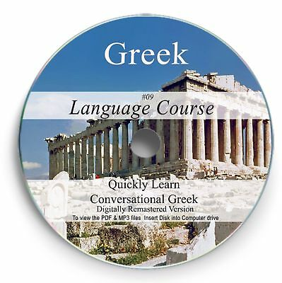 Learn How to Speak GREEK Language Audio Course CD Disc