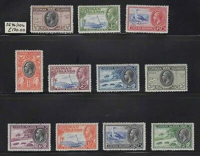 1935 CAYMAN IS  KGV set to 5/- SG 96/106 - CV £130.Lovely MH & LHM