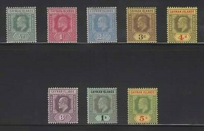 1907CAYMAN IS  complete Mult Crown CA set SG 25/32 - CV £135.Nice MH & LHM