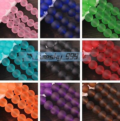 Wholesale 4mm 6mm 8mm 10mm Round Crystal Glass Loose Spacer Beads DIY Findings