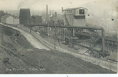 Printed postcard of of via product at Ebbw vale Gwent Wales vgc