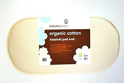 Naturepedic No Compromise Organic Cotton Oval Bassinet Pad 13 X 29in