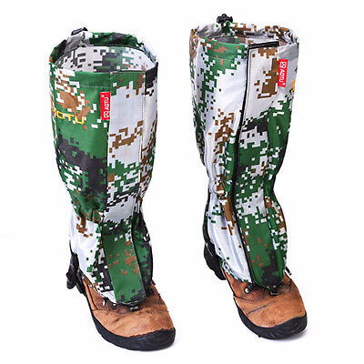 Water-resistant Gaiters Leg Protection Guard Skiing Hiking Camping Protect U9O3