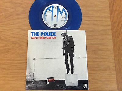 THE POLICE - Can't Stand Losing You *BLUE VINYL 1978 UK A&M  MORE RARE PUNK >>>