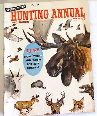 1960 Sports Afield HUNTING Annual Hunting Fishing Outdoor Sports Nice!