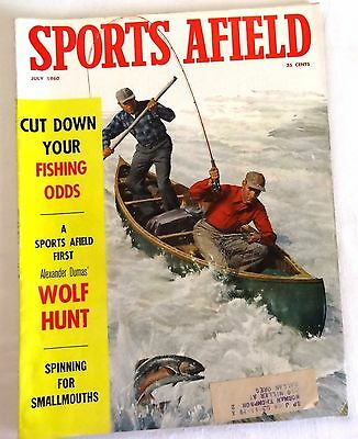 1960 Sports Afield Magazine July Hunting Fishing Outdoor Sports Nice!