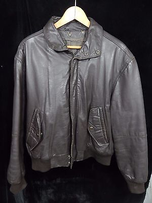 3ec1dac0e VINTAGE(?) MEN'S MEMBERS Only Dark Brown Leather Zip Up Jacket Size 44