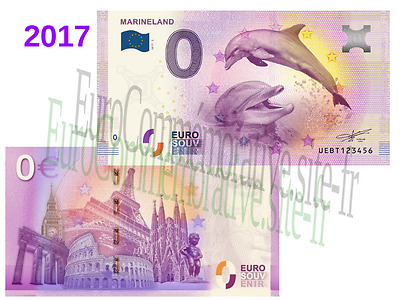 Billet Touristique Zero Euro France 2017 ''Marineland'' !