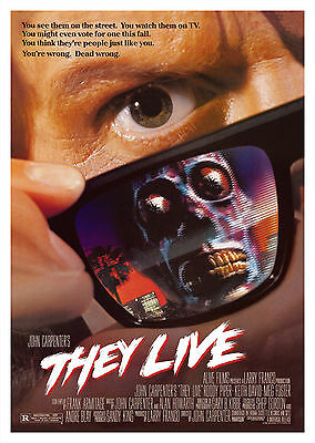 They Live (1988) - A2 POSTER **BUY ANY 2 AND GET 1 FREE OFFER**
