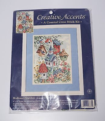 Dimensions Creative Accents NEW Birdhouse Neighbors Counted Cross Stitch Kit