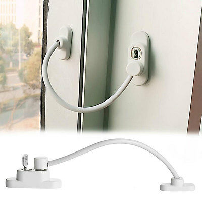 Wire rope Window Door Restrictor Child Baby Safety Security Cable Lock Catch