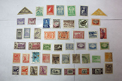 Lot of 49 Bolivia  Postal  Postage Stamps Mixed Airmail Collection  BOLI002