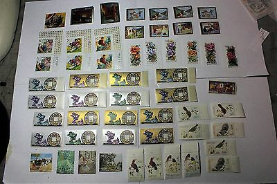 Lot of 54 Bhutan  Postal  Postage Stamps Mixed  Collection   BHUT001