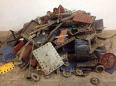 Vintage Job Lot Meccano Construction Toys Old Game retro