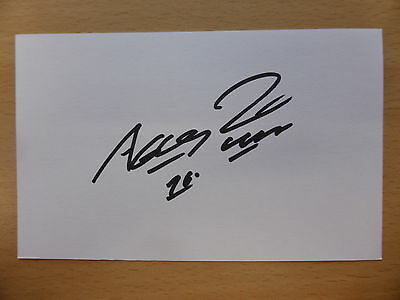 Hand Signed Football Index Cards *****A***** Page 1