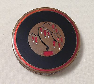 HIGH QUALITY Austrian Lanchere CHAMPLEVE enamel compact circa early 1900s