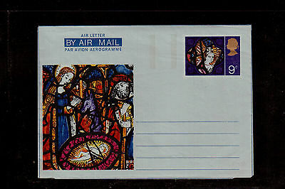 GREAT BRITAIN AEROGRAM (AIR LETTER) 5p EARLY ENGLISH STAINED GLASS !!