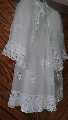 Vintage Christening Gown and Cape 1940's/ 1950's